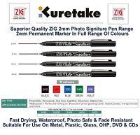 Zig Photo Signature Pen Autograph Pen Permanent Marker Fine 2mm Nib OHP DVD CD