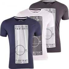 Firetrap Original Mens Designer Logo Print T Shirt Crew Neck Short Sleeve Tee