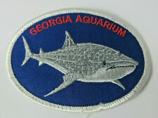 Georgia Aquarium whale shark marine animal fish oval patch emblem