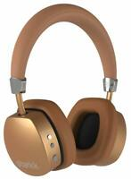 Sharkk Aura Gold Wireless Headphones On-Ear Bluetooth 4.0 Built-In Mic