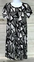 New LuLaRoe Women's Carly Dress Size XXS Black Gray White Unicorn NWOT A0908