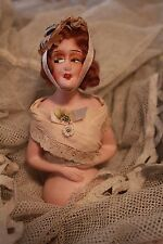 Antique Half Doll Flapper Lady Pin Cushion Germany