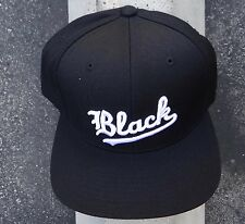 New Black Scale Skate Co. White Logo Black Mens Snapback Hat One Size HTBLK-41