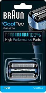 Braun Shaver Replacement Part 40B in Blue - Compatible with Cooltec Shavers