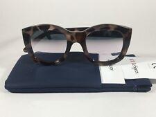 Le Specs Runaways Sunglasses Square Clear Tortoise Plastic Frame Mirror Gray Len