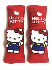 Hello Kitty voiture accessoires: 2 pièces ceinture de sécurité Couvre épaulettes #Red