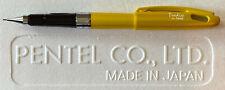 """No Grip"" Pentel Quicker Clicker Tradio 0.5mm Mechanical Pencil w/ Cap | Yellow"
