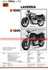 LAVERDA 1000 1200 à 3 cylindres Fiche Technique Moto 000302