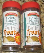 2-Pack, Bench & Field Holistic Natural Feline Treats 3.0 oz. each.