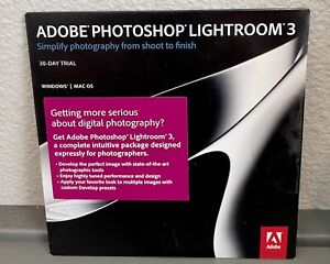 Photoshop Lightroom 3  30-DAY TRIAL Apple Mac Windows PC Photography