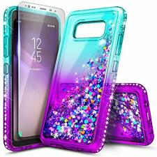 For Samsung Galaxy S8 Active SM-G892 Case Liquid Glitter Cover +Screen Protector