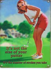 It's Not The Size Of Your Putter It's The Number... funny fridge magnet   (og)