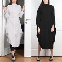ZANZEA Women Long Sleeve Shirt Dress Kaftan Loose Baggy Oversized Maxi Dress