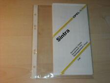 16261) Opel Sintra Preise Extra Schweiz Prospekt 1998