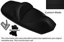 BLACK STITCH CUSTOM FITS PIAGGIO X9 125 250 500 DUAL LEATHER SEAT COVER