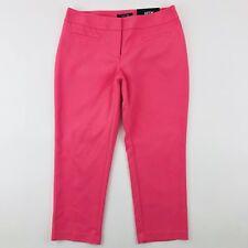 APT. 9 Mid Rise Capri Pants Women's Size 4 Pink Stretch Flat Front NWT $44