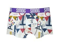 "NEW! AUTH SMOG MEN'S COMFORTABLE FIT BOXER BRIEF (PURPLE BAND, MEDIUM/ 30-31"")"