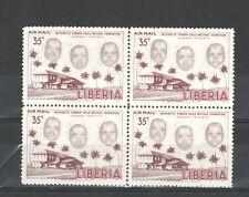 R1053 - LIBERIA - QUARTINA USATA TEMATICA - VEDI FOTO