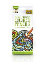 Crayola - Adult Colouring - 12 Dual-Ended Colored Pencils - 24 Colours - New