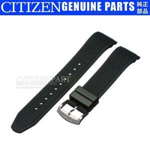 Genuine Citizen Watch Band f/ Eco-Drive CA0421-04E CA0420-07E Black Rubber Strap