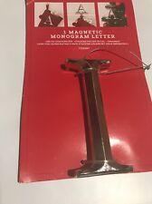 """Magnetic Monogram Letter """"I"""" Stocking Holder Initial Stocking Pin Ornament"""