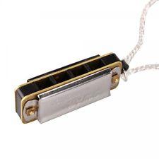 New Cute Swan Mini Harmonica 4 Hole 8 Tone Necklace Silver