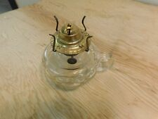 "Antique Pressed Glass Kerosene Oil Finger Lamp Beaded Bubble 5"" Tall"