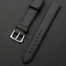 Fashion Black Brown Faux Leather Buckle Watch Strap Band for Women Men