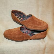 NEW! Hush Puppies Men's Brown Suede Slippers Shoes Sz 10.5 Loafers USA