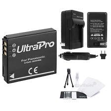 CGA-S005e Battery + Charger for Panasonic Lumix DMC-FX01, FX07, FX3, FX8, FX9