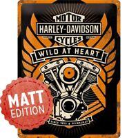 Blechschild 30 x 40 cm, Harley Davidson Wild At Heart Special Edition, NA 63310