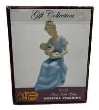 Cracker Barrel Figurine Hush Little Baby musical Figurine Gift Collection Rare