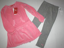 NWT Girls Pink Puma Dress with Leggings Outfit Size 6X