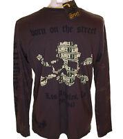 Bnwt Genuine Men's Smet Liberty Skull Long Sleeve T Shirt XL Christian Audigier