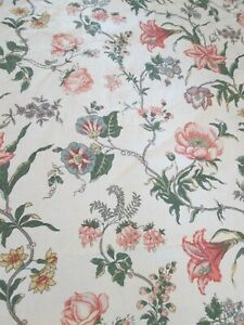 """Vintage 1986 Sanderson floral fabric 46"""" wide x 105"""" long approx"""