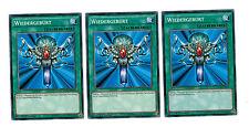 YUGIOH 3 X (3 carte) rinascita ygld-deb16, Common, Playset, tedesco