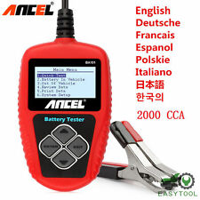 Ancel BA101 12V Car Battery Tester Cranking Test 2000CCA Battery Analyzer Tool