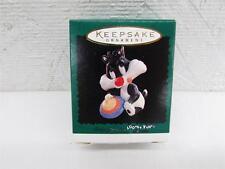 1996 Hallmark Baby Sylvester Miniature Christmas Ornament Iob T23 Looney Tunes