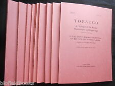 Tobacco: Books, Manuscripts & Engravings Catalogue - Arents - 10 Vol Set/Smoking