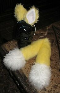 Sonic Yellow Fox shag faux fur ears tails or sets in 2 sizes