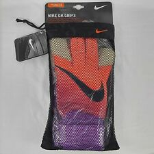Nike GK Grip 3 Goalie Goalkeeper Gloves Size 11 GS0329-815 Total Crimson Grape
