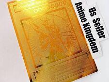 USA Seller Anime Black Luster Soldier Envoy of the Beginning Golden Metal Card