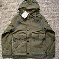 Pretty Green Mens Irvin Field Jacket - Khaki - Size XS RRP £200