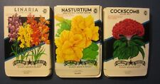 Wholesale Lot of 75 Old 1950's Vintage - FLOWER - SEED PACKETS - 310C - EMPTY