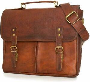 Genuine Luxurious Leather Vintage Messenger Shoulder Satchel Crossbody Bag