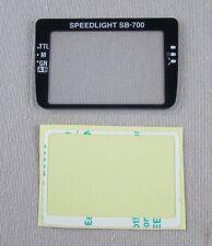 Nikon SB-700 LCD Window with Double Stick Tape GENUINE NEW. Japan. 1K684-479