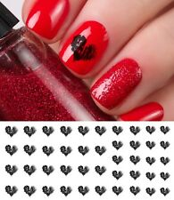 Shadow Heart Nail Art Waterslide Decals -Salon Quality, Great for Valentines Day