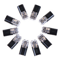10pcs 2pin Pluggable Spring Lock Wire Connector Cable Crimp TermSPUK