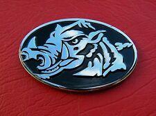 ~ RAZORBACK CAR EMBLEM Wild Boar HOG Chrome Metal Badge *NEW & UNIQUE Arkansas L
