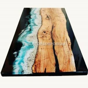 Epoxy Table Top, Resin Table Top, Dining Table , Chestnut Table Acacia Wood Deco